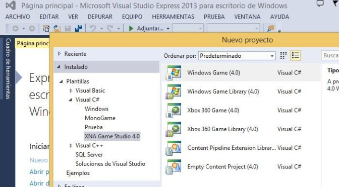 Como instalar XNA 4.0 en Visual Studio 2013 sin instalar Visual Studio 2010 o Windows Phone SDK 7.1